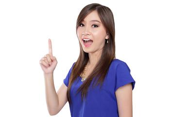 Pretty Asian girl got an idea