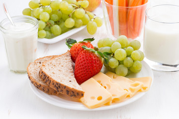 healthy and nutritious breakfast with fruits and vegetables