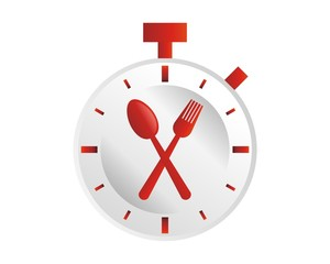 timer spoon plate logo image vector