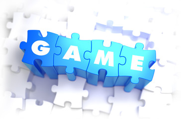 Game - White Word on Blue Puzzles.