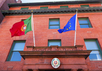 Portugal Embassy EC Portuguese Flags Embassy Row Washington DC