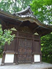 三渓園 木彫りの彫刻の扉