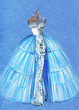 elegant dress .abstract watercolor