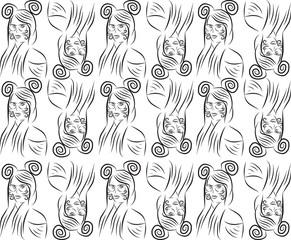 Textura de mujer con orejas de raton
