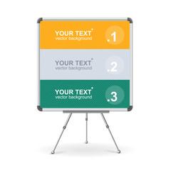 Vector colorful board. Option banner