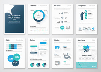 Creative infographic vector concept. Business graphics brochures