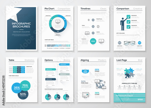 Creative infographic vector concept. Business graphics brochures - 81472238