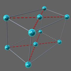 End Centred cubic lattice