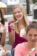 Frozen Yogurt essen