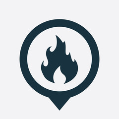 fire icon map pin
