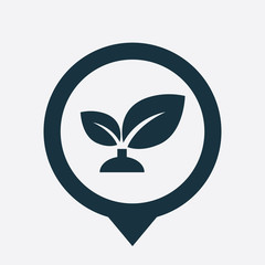 plant icon map pin.