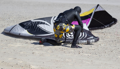 kitesurfing training