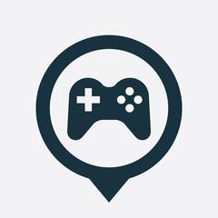 joystick icon map pin