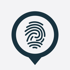 fingerprint icon map pin