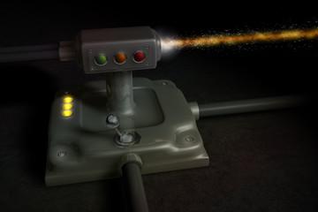 Schalter Lampe Kabel Laser 2