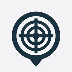 target icon map pin