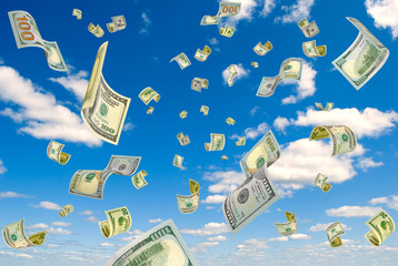 Money from the sky.