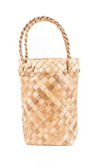 Small Wicker basket Isolate on white