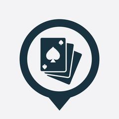 poker icon map pin