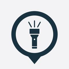 flashlight icon map pin