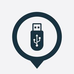 usb icon map pin