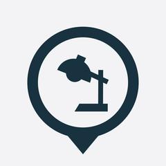 reading-lamp icon map pin