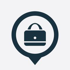 purse icon map pin