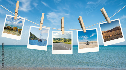 Deurstickers Ontspanning Summer vacation ideas