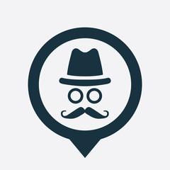 barbershop icon map pin