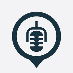 microphone icon map pin