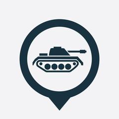 tank icon map pin