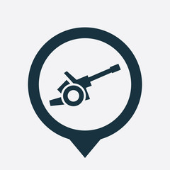 cannon icon map pin.