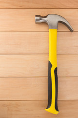 hammer tool on wood