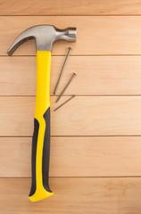 hammer tool on wood