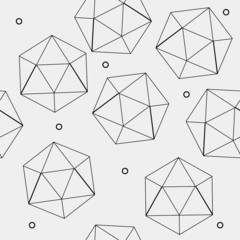 Geometric seamless simple monochrome minimalistic pattern of