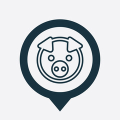 pig icon map pin