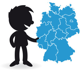 Short People with Germany map