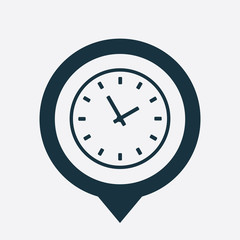 Time icon map pin