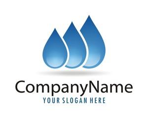 water droplets logo image vector