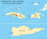 United States Virgin Islands Political Map - 81477042