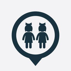 couple icon map pin