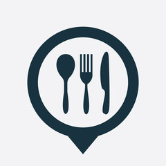 cutlery icon map pin