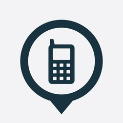 mobile phone icon map pin