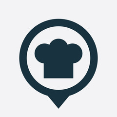 chef hat icon map pin