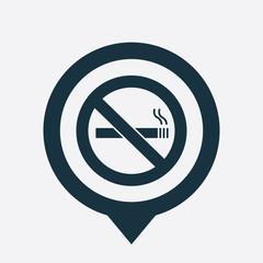 no smoking icon map pin
