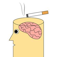 Cigarette addiction concept