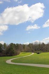 Weg im Park - Hochformat