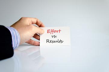 Effort vs. Results Concept