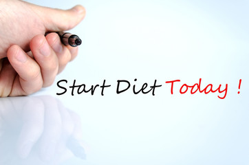 Start Diet Today Concept