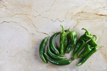 green hot pepper